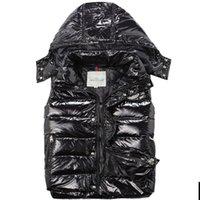 achat en gros de xl veste d'hiver des hommes-Hot vente de luxe Hommes down veste veste d'hiver automne nouvelles tendances de la mode Femmes bas manteau Livraison gratuite