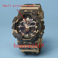 Wholesale 2017 top AAA new men ga100 Sports led Watches LED Digital Wristwatch Waterproof S Shock Watch m All function Work with Original Box