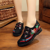 beijing hot springs - Hot Old Beijing Flat Heel Hemp Women Shoes Chinese Style Women Cloth Embroidered Wedge Shoes Casual Shoes