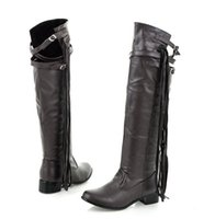 Wholesale The Autumn Winter New Ladies Casual Tassel Single Boots Large Size Over Knee Boots