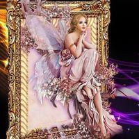 beauty cloth butterfly - Butterfly Fairy DIY D Diamond painting cross stitch D Round Diamond Painting Style Russian Beauty Cartoon Girl Creative Cross