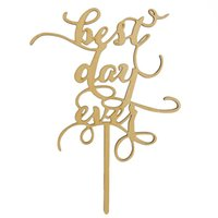 best cake decorating - Best Day Ever Wood Cake Topper Party Cake Decorating Wedding Favors