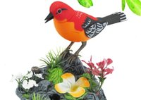 Wholesale Electric toys simulation electric bird moving children can call can dance acoustic sensing bird