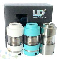 2015 UD Goblin RTA Atomizador 22mm RBA Rebuildable Tanque 3ml vapor Pyrex Glass Clearomizer para 510 cigarrillos electrónicos Mods DHL Free