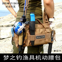 Wholesale Trulinoya cm Fishing Bag Multi function Fishing Tackle Bag Waterproof Canvas Waist Fishing Lure Bag Shoulder