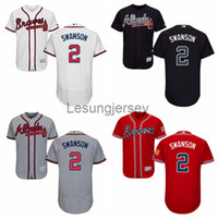 Wholesale New arrvial Atlanta Braves Jersey Mens Dansby Swanson Navy Blue Cool Base MLB Replica Jersey Stitched Baseball Jerseys