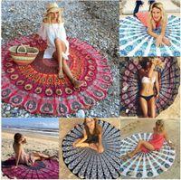 Wholesale Indian Mandala Tapestry Boho Bohemian Hippie Bikini Beach Cover Ups Beach Towel Beachwear Beach Sarongs Shawl Yoga Mat Table Cover