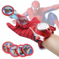 Wholesale Hot Marvel Avengers Super Heroes Glove Laucher Props Spiderman Batman Hulk Ironman Cosplay One Size Glove Props Toy for Kid