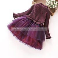 Wholesale Girl color into the thickening and velvet dress children cuhk white gauze skirt dress MAO dong new tong
