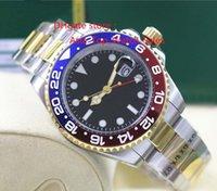 Reloj de alta calidad de lujo Asia 2813 Movimiento mecánico 40MM frontera de cerámica azul rojo GMT 116713 16713 Automatic Mens Watches