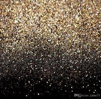 Precio de Vinil fondos de fotografía-5x7ft vinilo brillo negro oro puntos fotográfico estudio fondo telón de fondo
