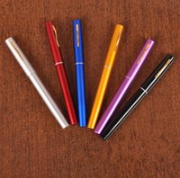 alloy media - Portable Pocket Telescopic Mini Fishing Pole Aluminum Alloy Pen Shape Fishing Rod With Reel Wheel mixed Colors