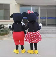 MICKEY MOUSE Y MINNIE MOUSE CARTOON MASCOT COSTUME solo vestido