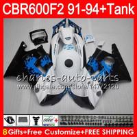 Cheap 8 Gifts Graffiti white 23 Colors For HONDA CBR600F2 91 92 93 94 CBR600RR FS 1HM12 CBR 600F2 600 F2 CBR600 F2 1991 1992 1993 1994 blk Fairing