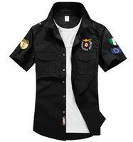 air chest - Fashion Air Force One Men Brand Shirts Men Military Plane Pilot Shirt Chest Logo Embroidery Casual Shirt