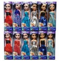 Wholesale Anna Elsa Princess Dolls Frozen Elsa Anna Movie FROZEN Cartoon Toys Good Girl Baby Dolls For Children Kids Girls Birthday Gift
