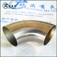 Wholesale 4 inch mm mm thickness degree Titanium Elbows for exhaust pipe Automobile motorcycle exhaust pipe modification