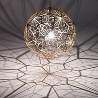 ball web - Tom Dixon Etch Web Creative Arts Diamond Ball Hanging Lighting Pendant Lamp Gold Silver cm cm Ball Chandelier Lamp Available