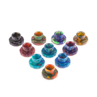 Wholesale Aspire cleito tank replacement drip tips with epoxy resin material multi colors