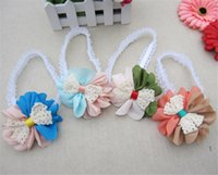 Headbands Lace Floral Baby Lace Head Band Children Girls Bowknot Flower Hair Hoop Kid Party Hair Bands Infant Elastic Hairband Hair Accessory