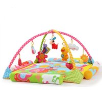 Wholesale Cartoon My Pony Horse Baby Game Bed Cotton Colorful Soft Baby Crawling Mat With Rack Portable Folding Baby Crib Cot For Babies