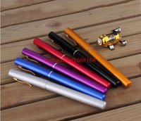 Wholesale Portable Pocket Telescopic Mini Fishing Pole Aluminum Alloy Pen Shape Fishing Rod With Reel Wheel Colors