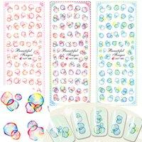 beauty salon prints - 1pcs Fashion Colorful Bubble Cute Printing Nail Art Water Transfer Sticker Nail Decals DIY Beauty Salon Women Tips HOT298