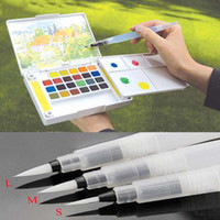 Wholesale Refillable set Water Brush Ink Pen for Water Color Calligraphy Kid Painting Writing Illustration Pen Office Stationery Material Escol