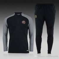 Wholesale Thailand Best quality PSG Jersey winter men s long sleeved jacket Slim pants football training suit mixed order