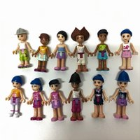 Wholesale Random x For LEGO Friends Fashion Gir Friends Fashion Girls Minifigure Mixed color building part EA150A Friends Fashion Girls Minifigure