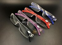 Wholesale New Unisex Clear Rimless Reading Glasses Spectacles Eyeglasses with Case Black E00641 FASH