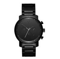 analog briefings - Hot Brand Watch Chrono Sub All dials work Wristwatches Man Women Metal Strap watch dial colors Elegant Brief Quartz Watches