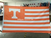 Wholesale The University of tennessee Volunteers NCAA Flag hot sell goods X5FT X90CM Banner brass metal holes