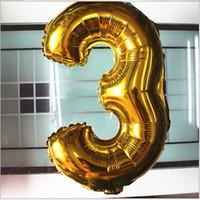 40 pouces d'hélium 90cm de hauteur Ballons en aluminium d'or Couleur Siver Numéros 0-9 Ballons Feuille Anniversaire Décoration de mariage Décoration enfants jouets