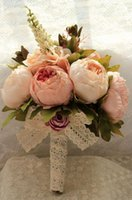 artificial flowers supplier - Peony Artificial Wedding Bouquets Different Colors Hand Made Wedding Suppliers Bridal Bouquet Real Picture