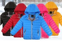Wholesale 2016 New Kids Winter Fashion Down Jacket Fashion Baby Girls Down Coat Children s Winter Windproof Warm Winter Jackets Women Men Kids Jackets