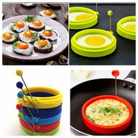 Wholesale Silicone Egg Ring Pancake Mold egg Shaper Kitchen Breakfast Cooking Tool Egg Poach Pancake Ring Mould Tool KKA1058