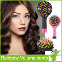 Wholesale DHL Eyecandy Eye candy Rainbow Volume comb amazing S waved brush for you hair care Hair Care Combs