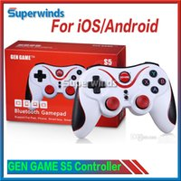 Wholesale GEN GAME S5 Bluetooth Wireless Game Controller Gamepad Joystick for IOS iPhone iPad Android Smart Phone Smart TV VR Box Free DHL