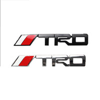 Wholesale pieces Car Styling d Metal TRD Sport Car Emblems Badge Decal On Car Stickers Bumper Sticker