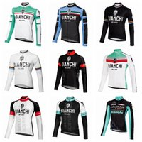 bianchi mtb - 2017 Bianchi Cycling Jerseys Long Sleeve Tops Winter Thermal Fleece MTB Ropa Ciclismo Bicycle Clothing For Men Bike Wear XS XL Colors