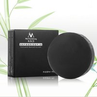 Wholesale Activated charcoal crystals handmade soap face skin whitening soap for remove blackhead and oil control washing a face soap