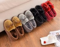Wholesale Lovely Floor Soft Home Shoes Cotton Warm Winter Slippers women Sandal Casual indoor boots