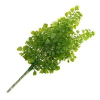 cheap wholesale 1 pcs fake plant green leaves potted plant flowers office wedding room home cheap office plants
