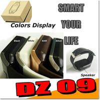 Wholesale DZ09 Smartwatch Bluetooth Smart Watch dz handfree For android iphone GT08 A1 sim support Cellphone SIM Card sleep reminder DHL SB DZ09