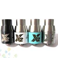 al por mayor dogo x v2-2015 Doge X V2 Atomizador Doge X V2 Reconstructable RDA Doge Dripper 4 colores SS Black Copper Blanco en forma Mods DHL Free