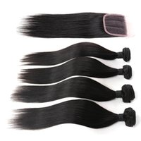 Wholesale 8A Brazilian straight Diva hair virgin Brazilian straight hair weave Brazilian Straight Hair With lace Closure