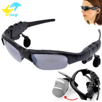 bluetooth headset sunglasses - Sunglasses Bluetooth Headset Wireless Sports Headphone Sunglass Stereo Handsfree Earphones mp3 Music Player With Retail Package DHL FREE
