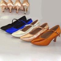 Wholesale Ballroom Latin Dance shoes Soft Bottom girl Sports Shoes Modern Jazz shoe for Women satin Feel fine BD138 Hot