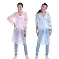 Wholesale EVA Transparent Raincoat Poncho Outdoor Rain Coat Regenjas Impermeable Para Lluvia Waterproof Raincoat Women Men